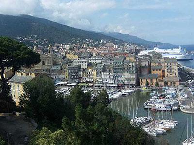 City of Bastia in Corsica